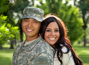 military-couple
